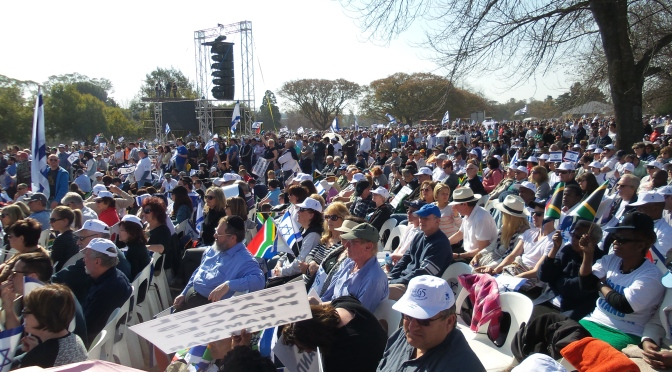 12,000 of diverse races and faiths rally for Israel in Johannesburg