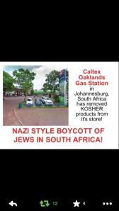 caltex boycott